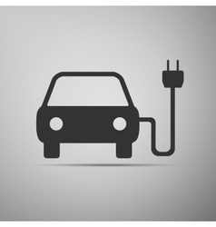 Electric powered car symbol icon vector