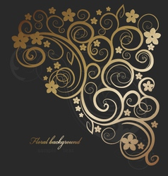 floral ornate vector image