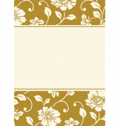 gold pattern and frame vector image vector image