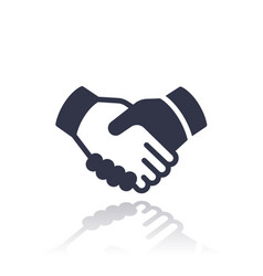 handshake deal partnership icon vector image vector image