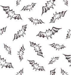 helloween bats pattern vector image vector image
