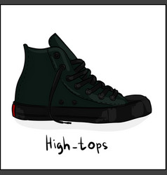 high-tops vector image vector image