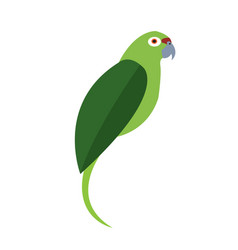 isolated abstract parrot vector image vector image