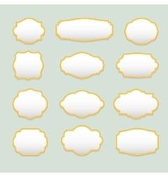 Isolated stylized frames logo set Vintage vector image vector image