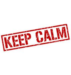 Keep calm stamp vector