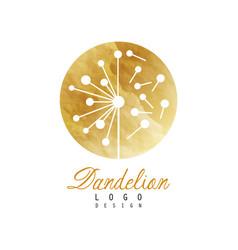 Luxury dandelion logo design template textured vector