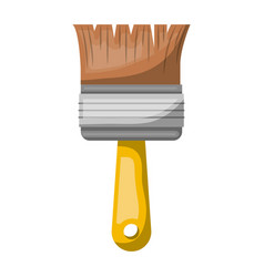 paint brush icon colorful silhouette with half vector image vector image