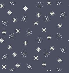 Seamless snowflake pattern in dark blue vector