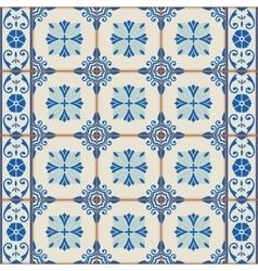Seamless Turkish Moroccan Portuguese tiles vector image