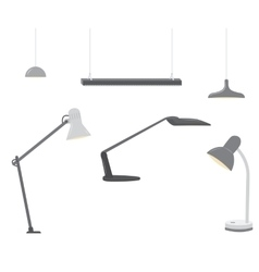 Set of office lighting vector image