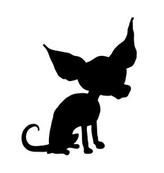silhouette of a chihuahua vector image