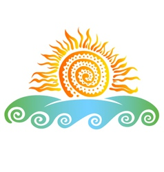 sun and sea vector image