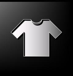 T-shirt sign gray 3d printed vector