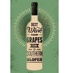 Typographic retro grunge wine poster vector