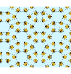 Seamless pattern made from ladybugs vector