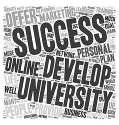 Can success university become your source for vector