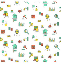 real estate icon seamless pattern vector image