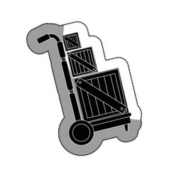 Box packing delivery service vector
