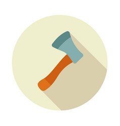 Axe ax hatchet flat icon vector