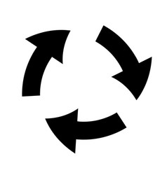 Arrows rotation process symbol silhouette vector