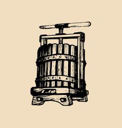 Wine press alcoholic vector