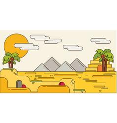Pyramid egypt destination travel typography vector
