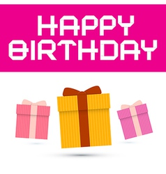 Happy birthday with paper gift boxes vector