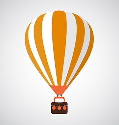 Isolated cartoon retro air balloon background vector