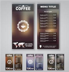 Blur menu 1 vector