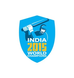 India cricket 2015 world champions shield vector