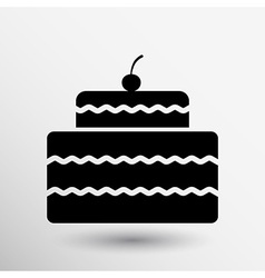 Cake design symbol logo dessert food sweet vector