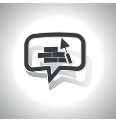Curved building wall message icon vector