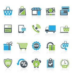 On line shop and e-commerce icons vector