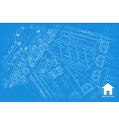 Architect background vector