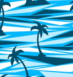 Tropical palm trees on a abstract seamless vector
