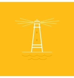 Lighthouse line style design vector
