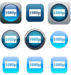 1080p blue app icons vector