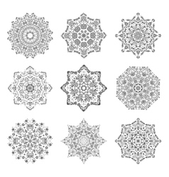 Mandala set hand made sketch for your design vector