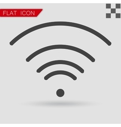 Black wi-fi icon flat style with red vector
