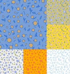 berry pie pattern vector image