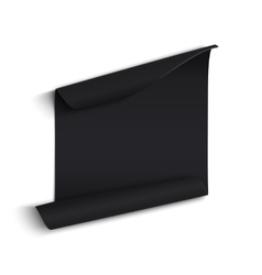 Black curved paper banner vector