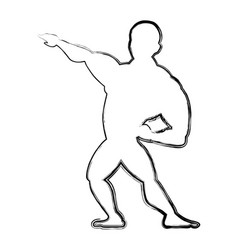 bodybuilding man silhouette vector image vector image