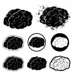 brain silhouette vector image vector image