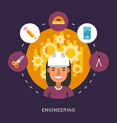 Building Icons and Objects in the Shape of Circle vector image vector image