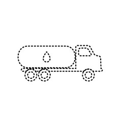 Car transports oil sign black dashed icon vector