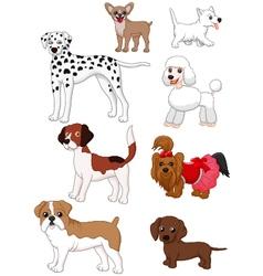 Cartoon dog collection vector