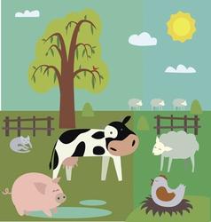 Cartoon farm vector