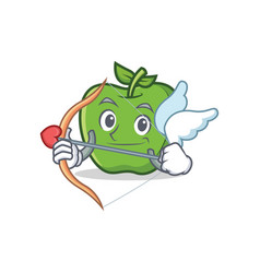 Cupid green apple character cartoon vector