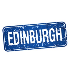 Edinburgh blue stamp isolated on white background vector