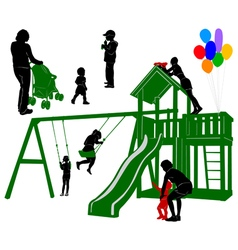 Family 4 vector image vector image